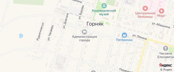 Улица Кирова на карте Горняка с номерами домов