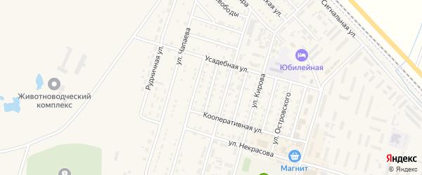Северная улица на карте Горняка с номерами домов