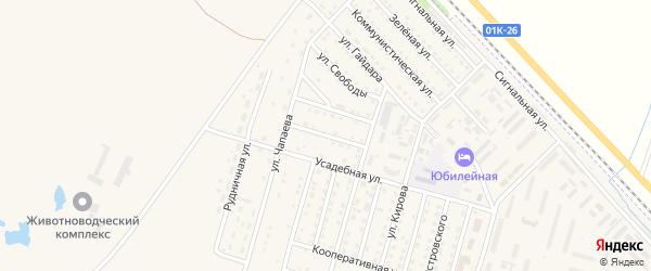 Сибирская улица на карте Горняка с номерами домов