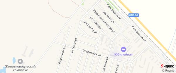 Золотушинская улица на карте Горняка с номерами домов