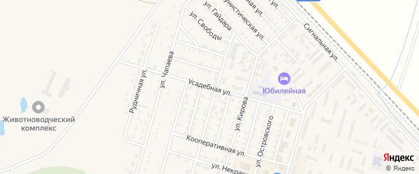 Усадебная улица на карте Горняка с номерами домов