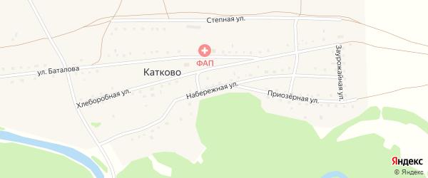 Набережная улица на карте села Катково с номерами домов