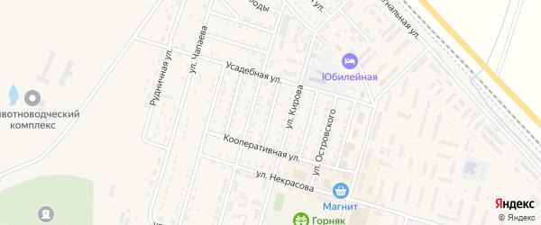Пролетарская улица на карте Горняка с номерами домов