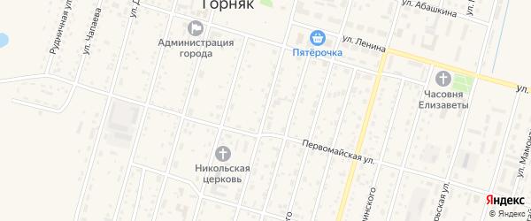 Улица Миронова на карте Горняка с номерами домов