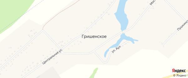 Солнечная улица на карте Гришенское села с номерами домов