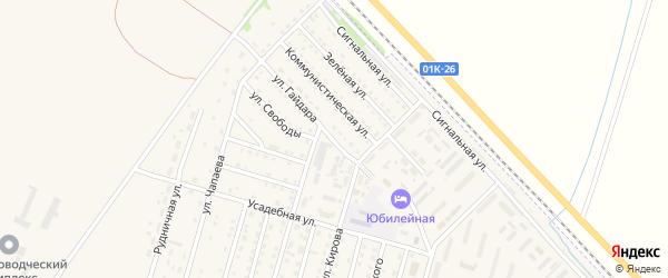 Улица Гайдара на карте Горняка с номерами домов