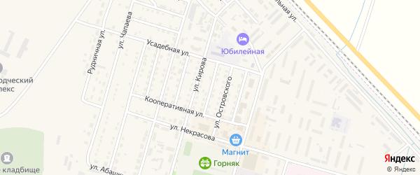 Социалистическая улица на карте Горняка с номерами домов