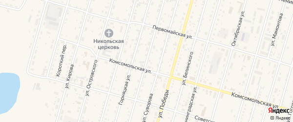 Улица Маяковского на карте Горняка с номерами домов