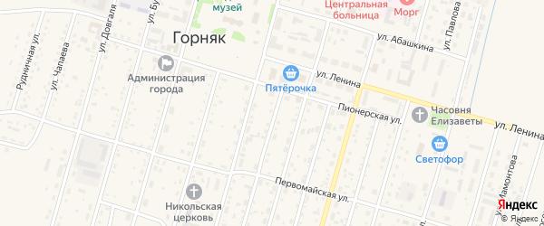 Дальняя улица на карте Горняка с номерами домов