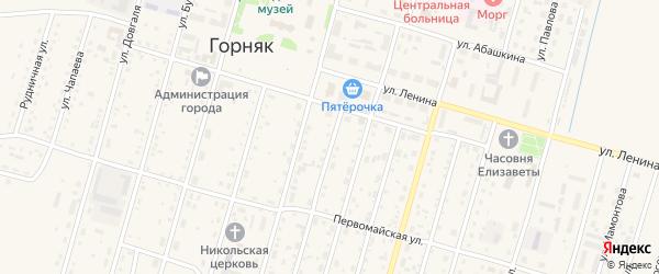 Улица Мира на карте Горняка с номерами домов