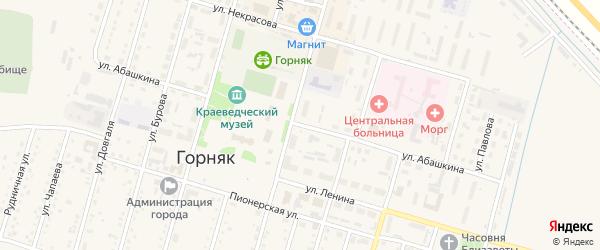 Улица Абашкина на карте Горняка с номерами домов