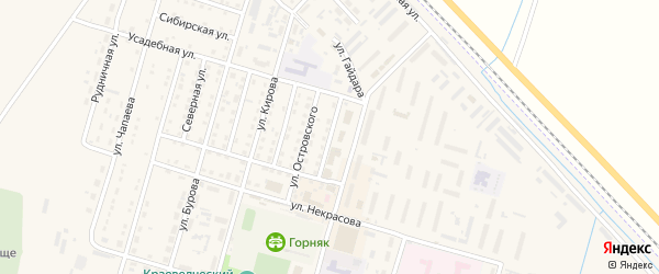 Интернациональная улица на карте Горняка с номерами домов