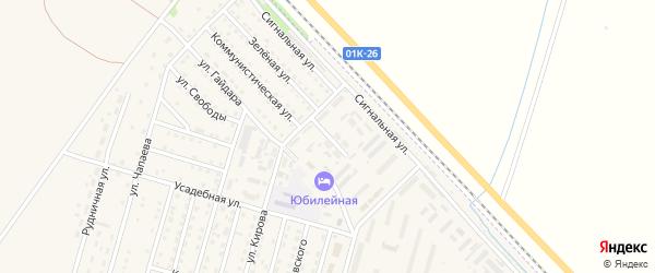 Улица Чкалова на карте Горняка с номерами домов