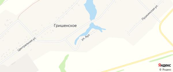 Улица Аул на карте Гришенское села с номерами домов