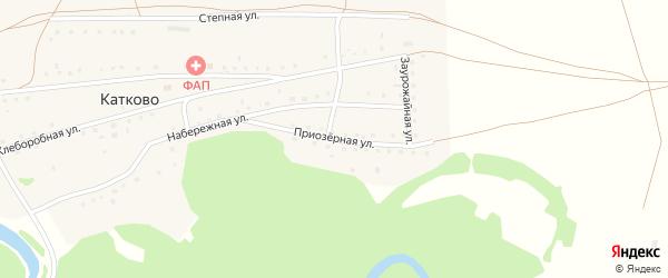 Приозерная улица на карте села Катково с номерами домов