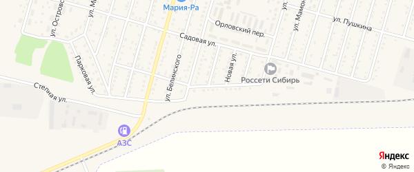 Стадионная улица на карте Горняка с номерами домов
