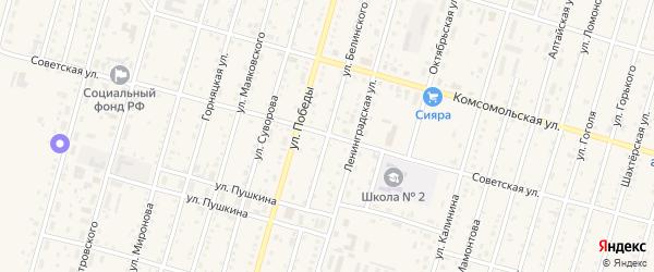 Улица Белинского на карте Горняка с номерами домов