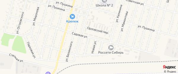Больничная улица на карте Горняка с номерами домов