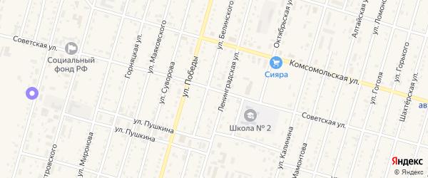 Советская улица на карте Горняка с номерами домов