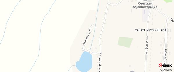 Заречная улица на карте села Новониколаевки с номерами домов