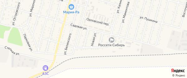 Новая улица на карте Горняка с номерами домов