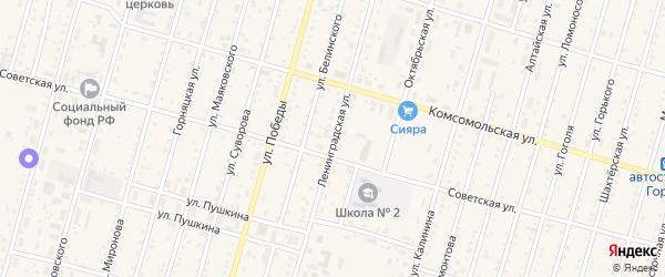 Ленинградская улица на карте Горняка с номерами домов