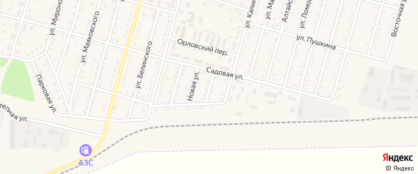 Путевая улица на карте Горняка с номерами домов