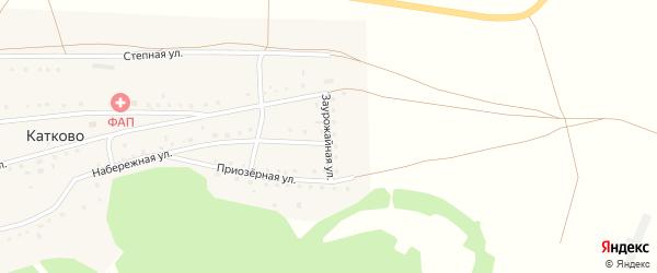 Заурожайная улица на карте села Катково с номерами домов