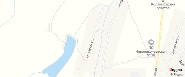 Алтайская улица на карте села Новониколаевки с номерами домов