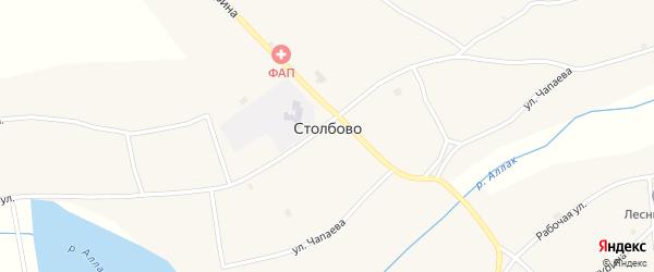 Улица Чапаева на карте села Столбово с номерами домов