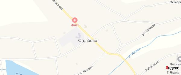 Улица Мичурина на карте села Столбово с номерами домов