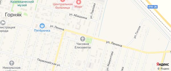 Улица Ленина на карте Горняка с номерами домов