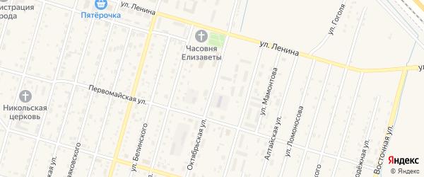 Октябрьская улица на карте Горняка с номерами домов