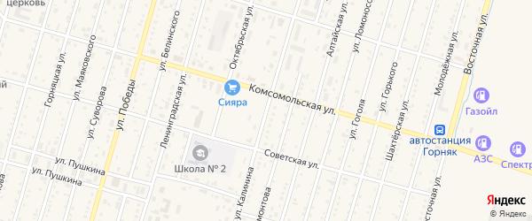Улица Калинина на карте Горняка с номерами домов