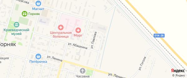 Улица Павлова на карте Горняка с номерами домов