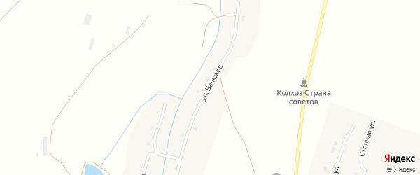 Улица Балюков на карте села Новониколаевки с номерами домов