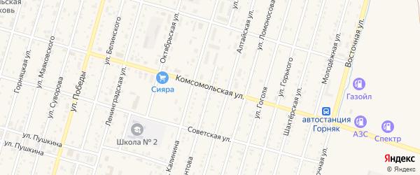 Улица Мамонтова на карте Горняка с номерами домов