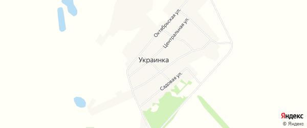 Карта села Украинки в Алтайском крае с улицами и номерами домов