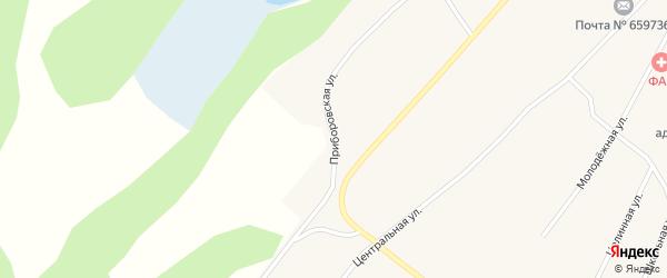 Приборовская улица на карте Поломошного села с номерами домов