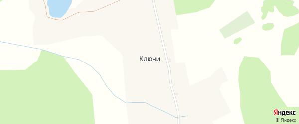 Центральная улица на карте села Ключи с номерами домов