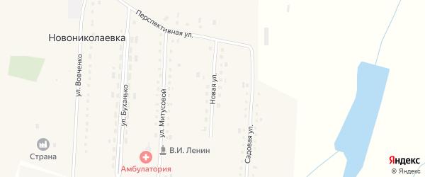 Новая улица на карте села Новониколаевки с номерами домов