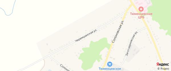 Черемшанская улица на карте села Тюменцево с номерами домов