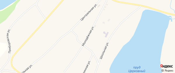 Молодежная улица на карте Поломошного села с номерами домов