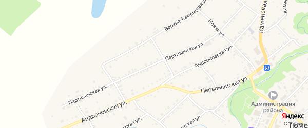 Партизанская улица на карте села Тюменцево с номерами домов