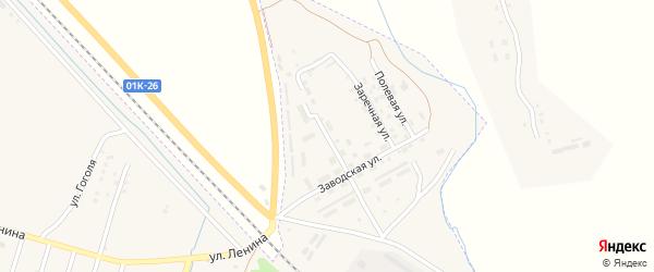 Строительная улица на карте Горняка с номерами домов