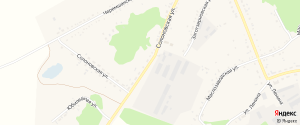 Солоновская улица на карте села Тюменцево с номерами домов