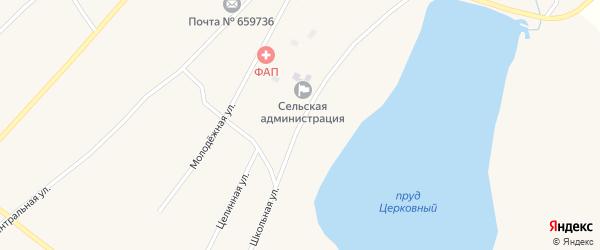 Школьная улица на карте Поломошного села с номерами домов