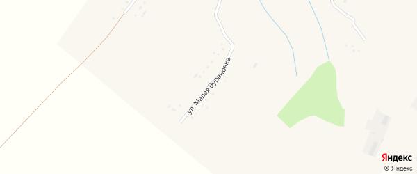 Улица Малая Бурановка на карте села Черной Курьи с номерами домов