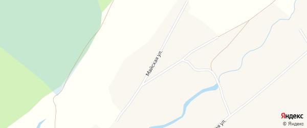 Майская улица на карте Поломошного села с номерами домов