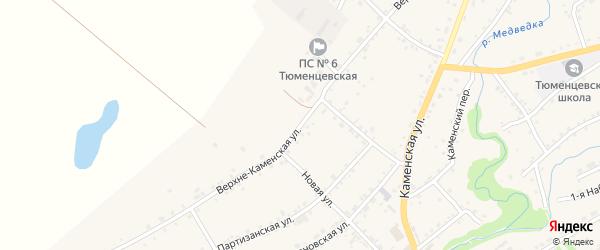 Верхне-Каменская улица на карте села Тюменцево с номерами домов